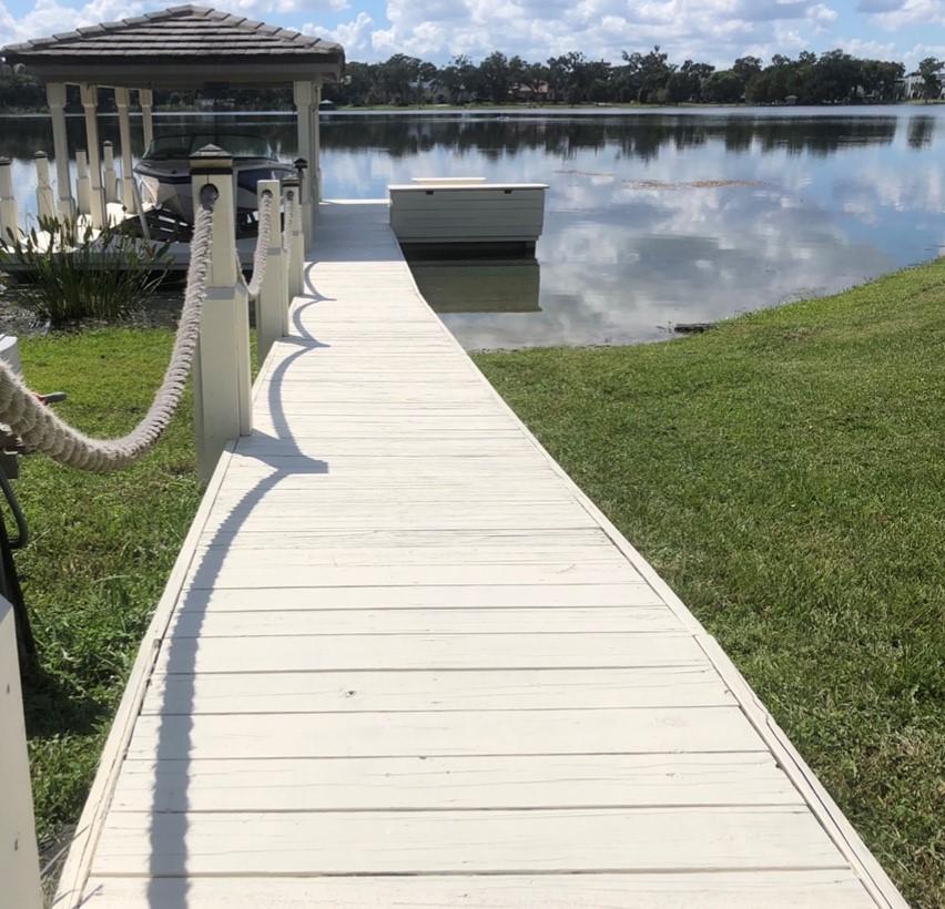 continued lake maintenance